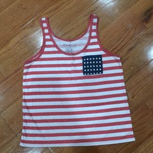 Red white and blue tank.